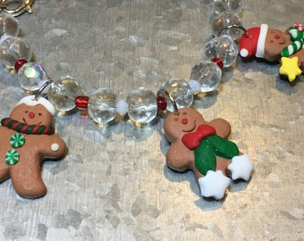 Children's Gingerbread People Bracelet