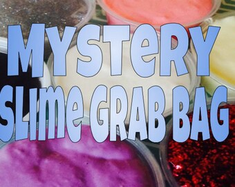 Mystery slime grab bag- Could be Glitter, Jiggly, Fluffy, Cream cheese, Marshmallow fluff- Party Favor, Stress relief, gift