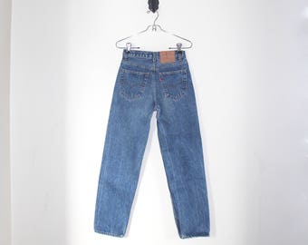 vtg levi's 501 // size 29 // classic 501s // distressed vintage denim // high-wasted mom jeans
