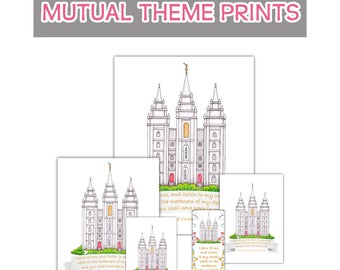 2018 Mutual Theme Prints - Temple Learn of Me Listen Have Peace in Me
