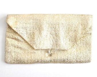 Vintage Handmade Gold Clutch Bag