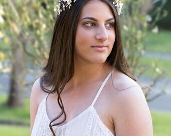 ANGELINE | Bridal headpiece, Bridal hair accessories, Wedding headpiece, Wedding hair accessories , bridal hair accessories, Headpieces