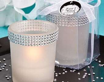 Bling Collection White Candle Holders - Wedding Bridal Shower Party Favor 12-96 Qty   5464