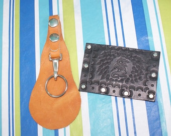 Vintage  Leather Key Holder And Credit Card / Business Card /Drivers License Holder