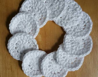 Eco-friendly gift, reusable cotton rounds, eco friendly makeup remover pads, cotton rounds