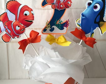 Finding Dory centerpiece, Finding Nemo centerpiece, Finding Dory cake topper,Base no included