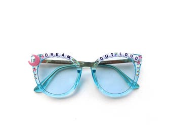 """Papadosio """"Dream Out Loud"""" decorated sunglasses ~ Find Your Cloud!"""