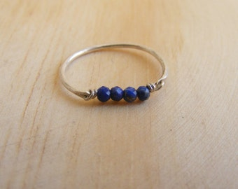 Lapislazuli Silver Handmade Ring