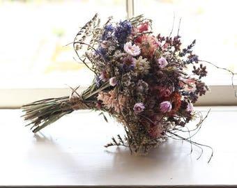 Bridal Posy - Autumn Skies - Dried Flowers