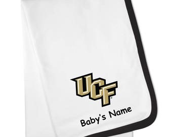 UCF Central Florida Knights Personalized Baby Blanket