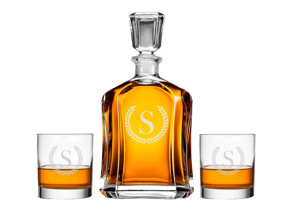 Personalized Whiskey Decanter Monogrammed Gift Engraved Decanter