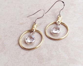 Gold Earrings, Diamond Earrings, Silver Earrings, Statement Earrings, Modern, Bridesmaids, Bridal, Small Earrings, Hoop Earrings