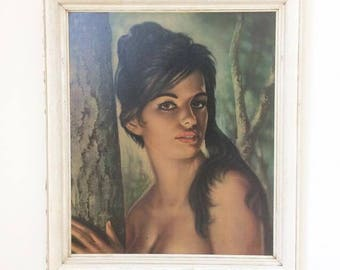 Original 1960's TINA by J.H Lynch Framed Print - KITSCH - Pin Up
