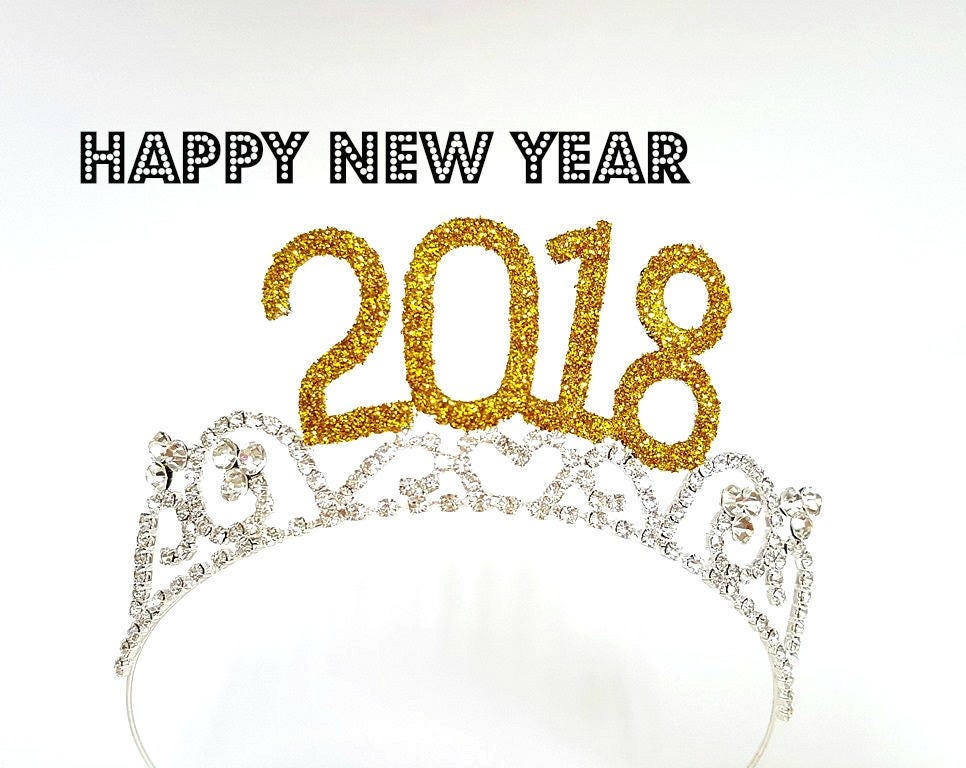2018 Tiara New Years Eve Crown Fit Toddler Kids & Adults New