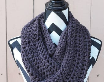 Ready to Ship Steel Gray Infinity Scarf