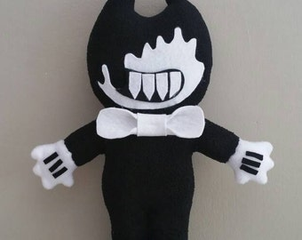 "Handmade Evil Bendy plush(unofficial)from""Bendy and the ink machine"" horror game,markiplier,evil plush,bendy soft toy,bendy doll,bendy evil"