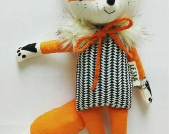VIKING the fox. made-to-order. eco toy. stuffed fox