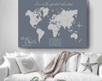 Push pin travel map world travels map world map canvas world travel map map your travels canvas pushpin map wedding gift our travels gumiabroncs Choice Image