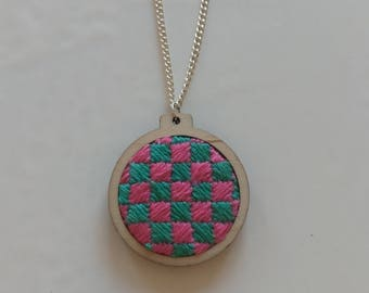 Handmade patterned necklace