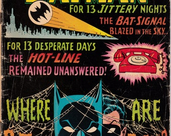 Batman #184 (1940 Series) - September 1966 - DC Comics - Grade G