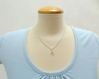 Silver Musical Note Necklace - Ready to Ship