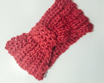 Head band hand knitted wool