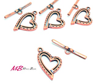 High Quality Large Antique Copper Plated Toggle Clasps, 27mm 2 Sets