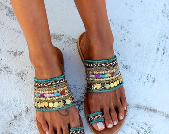 """Handcrafted Shoes, Greek Leather Sandals, Handmade shoes, """"Genie"""" sandals"""