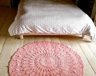 Rose cotton rug