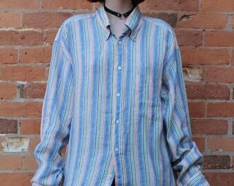 Gant Long Island Linen Vintage 1990s Shirt
