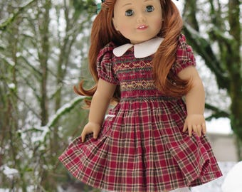 18 Inch Doll Narnia Smocked Dress - Lucy Pevensie Smocked Dress - Old Fashioned Doll Clothes - American Made Girl Doll Clothes