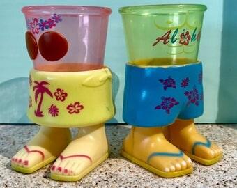 70s Vintage Hawaiian Shot Cups or mini Succulent Planters