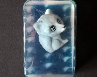 """Original soap, with toy inlaid """" GREY WOLF """" Baby Doll perfume"""