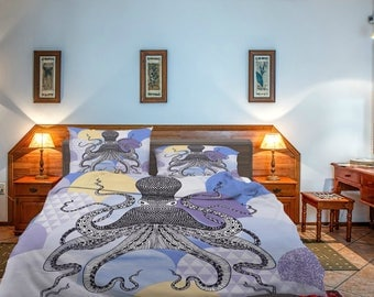 Octopus  Comforter or  Duvet Cover, Twin  Full Queen King,