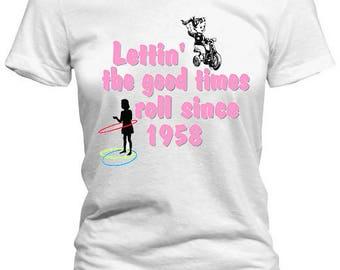 Vintage 1958 60th Birthday Girl Tee