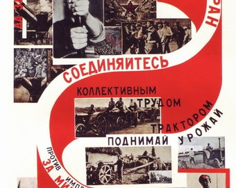 Soviet Constructivist posters / Up with May 1st, the labour holiday. Workers of all countries, unite! / Moscow 1929