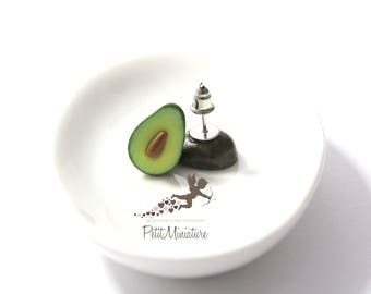 Avocado-studs / Post Earrings-Fruit Collection