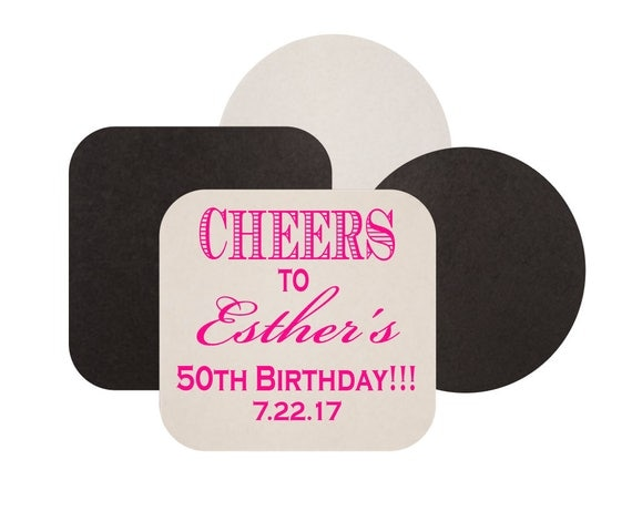 Personalized birthday coaster