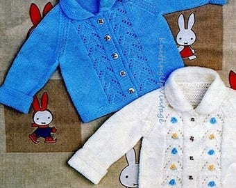 Baby Knitting Pattern pdf Cardigan Jacket 19-22""