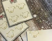Pitbull Shaped Metal Paper Clips, Custom Designed Gold Plannerclip Bookmarks / Pit Bull Dog / Bully Breed