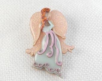 Vintage Lucinda Angel Pin Numbered Lucinda Angel Pin Hard to Find Lucinda Guardian Angel Brooch Elegant Lucinda Angel Pin Heavenly Pin
