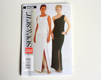 See and Sew 4426 UNCUT pattern, Misses evening dress, prom dress, multi-sized for custom fit, See & Sew B4426