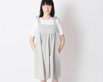 Denim pinafore dress, pinafore dress,short pinafore, denim pinafore, loose fitting dress,apron dress,  casual dress, oversize dress