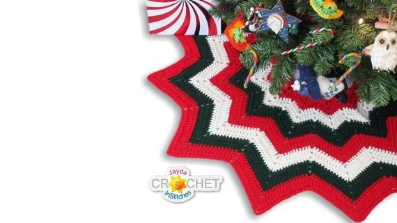 Christmas Tree Skirt Crochet PATTERN PDF 12 Point Easy