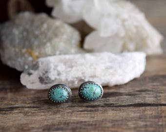 Choose Your Pair, Small Turquoise Stud Earrings, Silver Turquoise Studs, Tiny Turquoise Earrings, Real Turquoise Earrings, Everyday Earrings