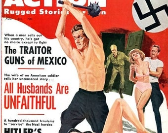 Real Action Magazine  1963  The Women Who Sell Sex   Hitler's Army of Vice   All Husbands are Unfaithful  She Laughed at his Blood  mature