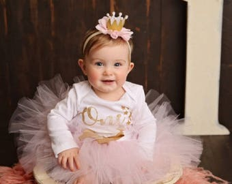 Twinkle Twinkle Little Star First Birthday Outfit | 1st Birthday Outfit Girl | Baby Girl | Pink and Gold | Cake Smash Outfit | Photo Prop