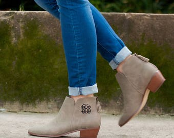 Monogrammed Short Boots - Monogram Gift