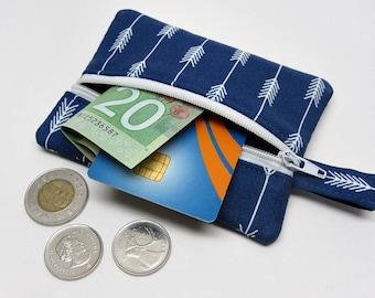 Coin purse, zipper pouch, zipper purse, change wallet, arrows coin purse, arrows zipper pouch, kids coin purse, arrows wallet