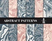 Gray And Copper Marble Digital Paper, Gentleman's Gray & Shiny Copper Scrapbook Backgrounds, Abstract Papers, Modern Patterns, BUY7FOR10